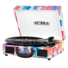 Innovative Technology Victrola Bluetooth Suitcase Record