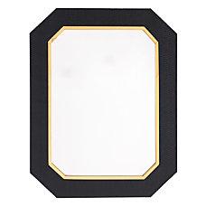 Zuo Modern Asti Octagonal Mirror Black