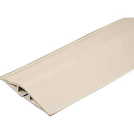 C2G 15ft Wiremold Corduct Overfloor Cord Protector - Ivory - Ivory