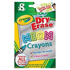 Crayola Washable DryErase Neon Crayons Neon