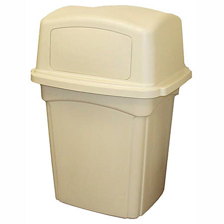"""Continental Colossus Indoor/Outdoor Receptacle, 45 Gallons, 41 1/4"""" x 21"""" x 25"""", Beige"""