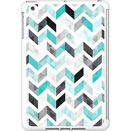 OTM iPad Mini White Glossy Case Ziggy Collection, Aqua