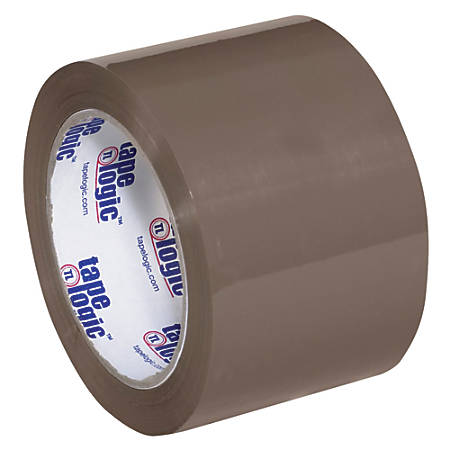 "Tape Logic® #600 Hot Melt Tape, 3"" Core, 3"" x 110 Yd., Tan, Pack Of 6"