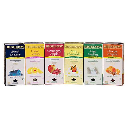 Bigelow Assorted Caffeine-Free Herbal Teas, Box Of 6