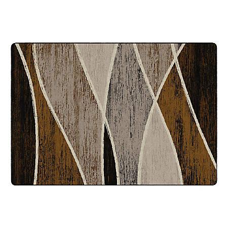 "Flagship Carpets Waterford Rectangular Area Rug, 100"" x 144"", Chocolate"