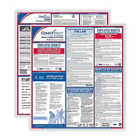 ComplyRight Federal/State Labor Law 1-Year Poster Service, Washington, English