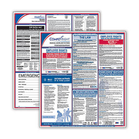 ComplyRight Federal/State Labor Law 1-Year Poster Service, Wisconsin, English
