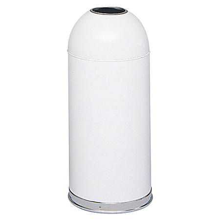 Safco® Open Top Dome Receptacles, 15 Gallons, White