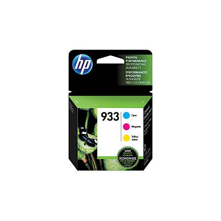 HP 933 Cyan/Magenta/Yellow Ink Cartridges (N9H56FN#140), Pack Of 3
