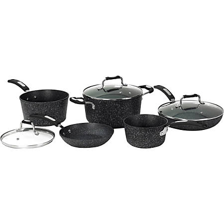 Starfrit The Rock 8-Piece Cookware Set with Bakelite Handles