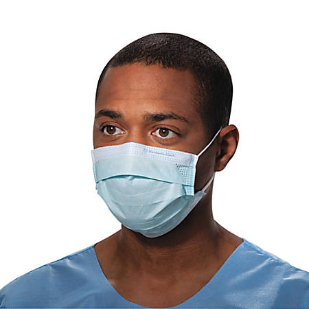 Kimberly-Clark® Professional Pleat-Style Procedure Masks With Ear Loops, One Size, Blue, Carton Of 500 Masks