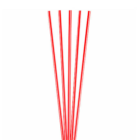 "Goldmax Slim Plastic Sip 'n Stir Sticks, 5 1/4"", Red, Pack Of 10,000"