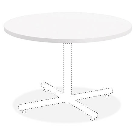 """Lorell® Hospitality Round Table Top, 42""""W, White"""