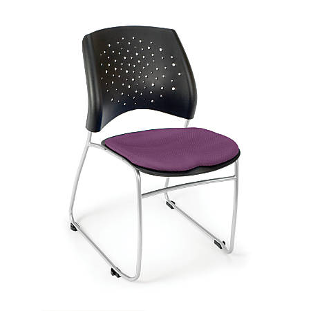 OFM Stars And Moon Stack Chairs, Plum, Set Of 4