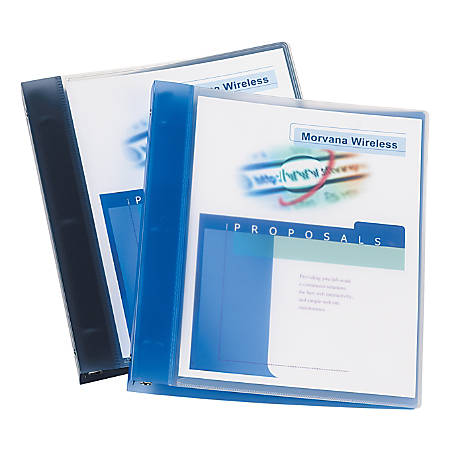 "Avery® Flexible View Binder With Round Rings, 1"" Rings, Blue"