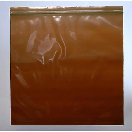 """Elkay Plastics Zipper Lock Bags, 3mil, Amber, 12"""" x 12"""", Box Of 1,000"""