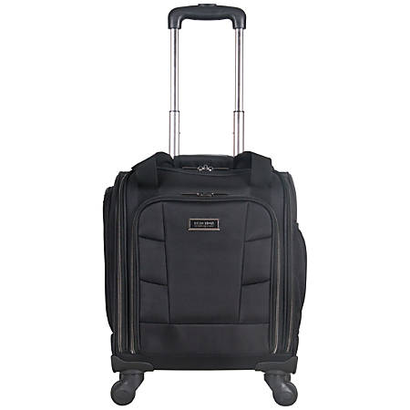 "Kenneth Cole Reaction R-Tech Polyester Rolling Underseater Carry-On With USB Charging Port, 17 3/4""H x 13 1/4""W x 8""D, Black"