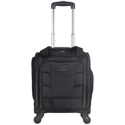 Kenneth Cole Reaction R Tech Polyester Rolling Underseater Carry On With USB Charging Port 17 34 H X 13 14 W 8 D Black By Office Depot OfficeMax