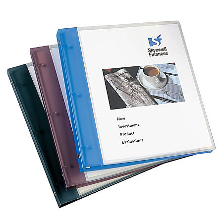 """Avery® Flexible View Binder With Round Rings, 1"""" Rings, Gray"""