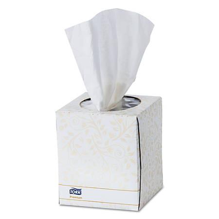 Tork® Premium 2-Ply Facial Tissues, White, 94 Sheets Per Box, Case Of 36 Boxes