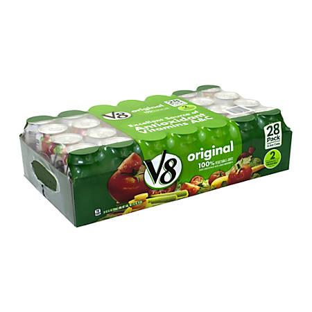 V8 Original Vegetable Juice, 11.5 Oz, Pack Of 28 Cans