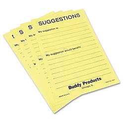 Buddy Preprinted Suggestion Cards 50 Sheets