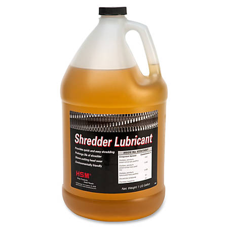 HSM Shredder Lubricant - Gallon Bottle - 4 quart - Amber