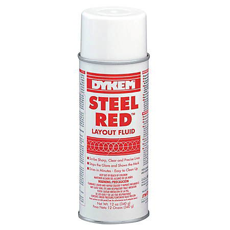 ITW Professional Brands DYKEM® Layout Fluid, Aerosol Can, 16 Oz, Red