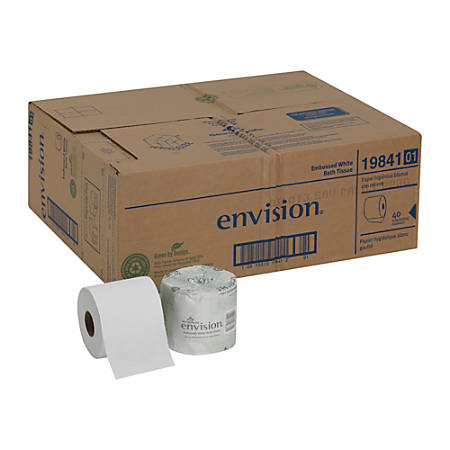 Georgia-Pacific Envision® 95% Recycled Embossed 1-Ply Bathroom Tissue, White, 550 Sheets Per Roll, Case Of 40 Rolls