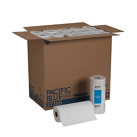 "Pacific Blue Select by GP Pro 2-Ply Perforated Paper Towels, 11"" x 8-13/16"", White, 85 Sheets Per Roll, Case Of 30 Rolls"