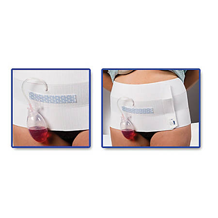 "Dale® Abdominal Binder With EasyGrip™ Strip, 12"", Stretches 30""-45"""