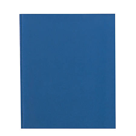 Office Depot® Brand School-Grade 3-Prong Paper Folder, Letter Size, Blue