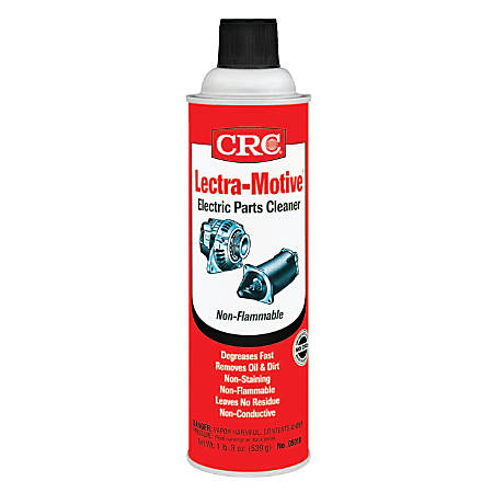 CRC Lectra Motive® Electric Parts Cleaner, 20 Oz Aerosol Can, Clear