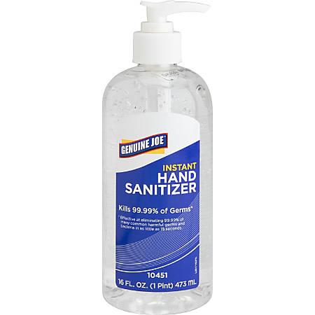 Genuine Joe Gel Hand Sanitizer, 16 Oz. Pump