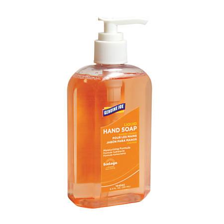 Genuine Joe Antibacterial Moisturizing Liquid Soap, 8.5 Oz. Pump