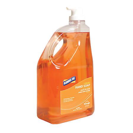 Genuine Joe Antibacterial Moisturizing Liquid Soap Refill, 64 Oz. Bottle