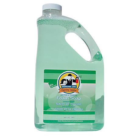 Genuine Joe Antibacterial Foaming Hand Soap Refill, 64 Oz. Bottle