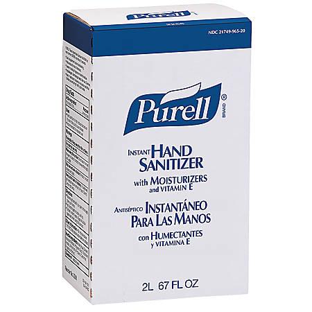 Purell® NXT® Maximum Capacity Instant Hand Sanitizer Refill, 2000 mL, Carton Of 4
