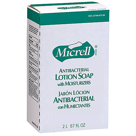 Micrell NXT® Antibacterial Soap Refill, 2000 mL, Carton Of 4