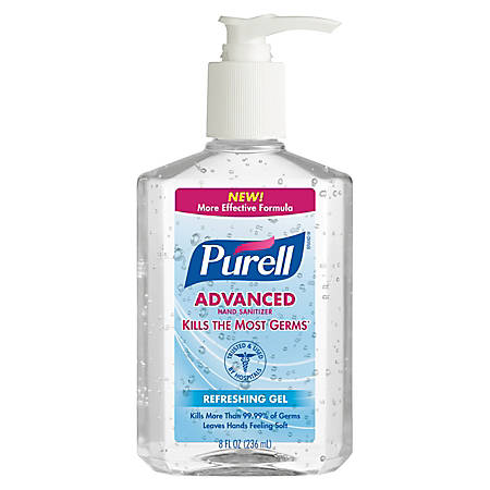 Purell® Instant Hand Sanitizer, 8 Oz, Carton Of 12 Bottles