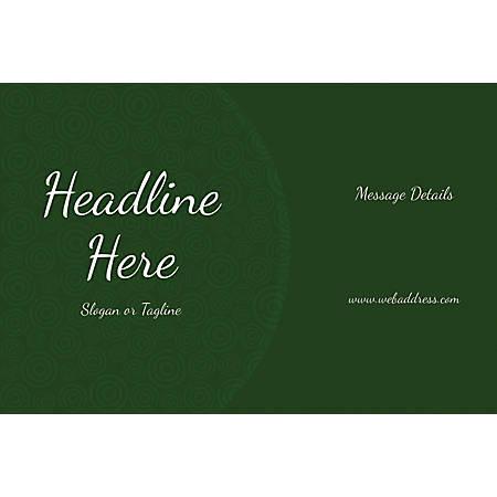 Custom Poster, Green Abstract Circles, Horizontal