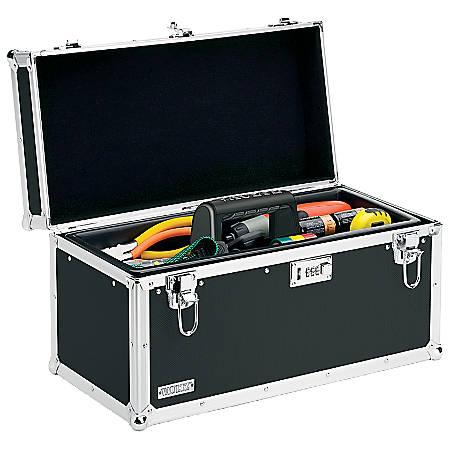 "Vaultz® Locking Tool Box, 11 1/2"" x 20 1/4"" x 10 1/2"", Black"