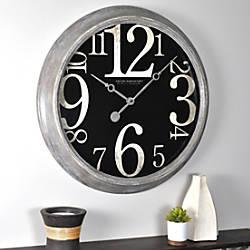 FirsTime Weathered Tilt Wall Clock 24