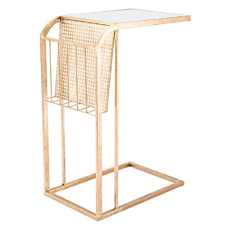 Zuo Modern Magazine Table, Rectangular, Mirror/Gold
