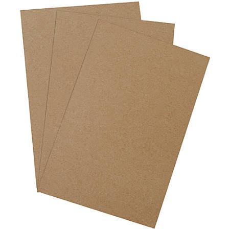 "Office Depot® Brand Heavy-Duty Chipboard Pads, 11"" x 17"", 100% Recycled, Kraft, Case Of 375"