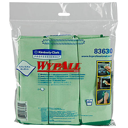 Wypall® Microfiber Cloths, Box Of 6