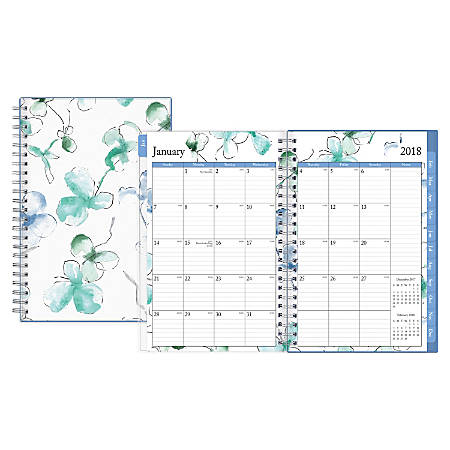 """Blue Sky™ Weekly/Monthly Planner, 5"""" x 8"""", 50% Recycled, Lindley, January to December 2018 (101579)"""