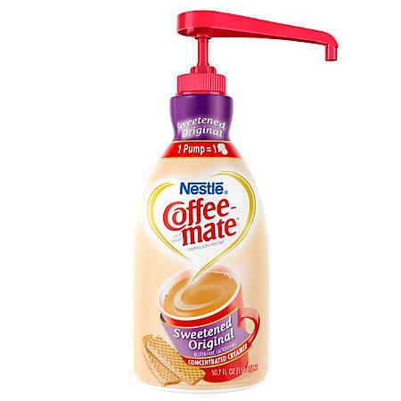 Nestlé® Coffee-mate Liquid Creamer, Sweetened Original, 50.72-Oz Pump Bottle