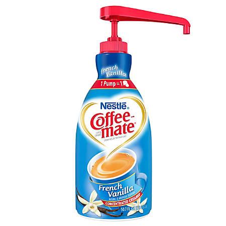 Nestlé® Coffee-mate Liquid Creamer, French Vanilla, 50.72-Oz Pump Bottle