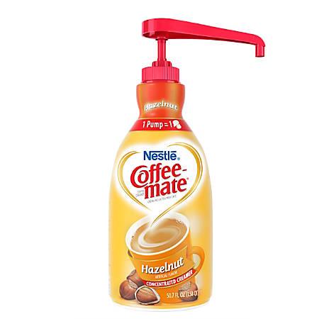 Nestlé® Coffee-mate Liquid Creamer, Hazelnut, 50.72-Oz Pump Bottle